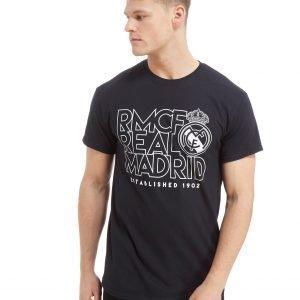Official Team Real Madrid Stack Short Sleeve T-Shirt Musta