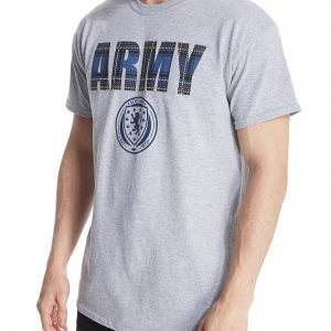 Official Team Scotland Army T-Shirt Grey Marl