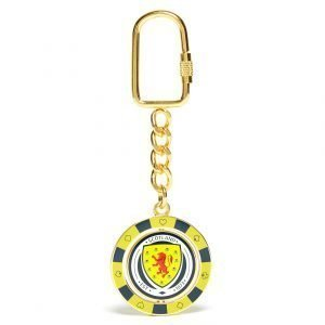 Official Team Scotland Fa Poker Chip Keyring Kulta