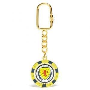 Official Team Scotland Fa Poker Chip Keyring Kulta
