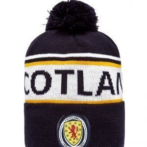 Official Team Scotland Fa Text Knitted Bobble Hat Laivastonsininen