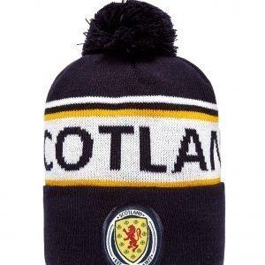Official Team Scotland Fa Text Knitted Bobble Hat Laivastonsininen