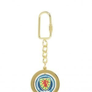 Official Team Scotland Spinner Keyring Sininen