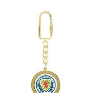 Official Team Scotland Spinner Keyring Sininen