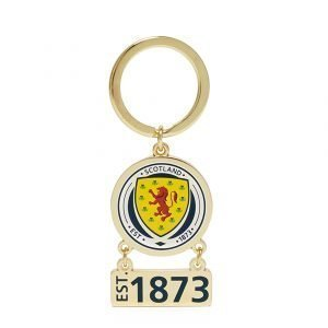 Official Team Scotland Swing Keyring Sininen
