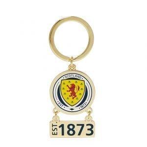 Official Team Scotland Swing Keyring Sininen