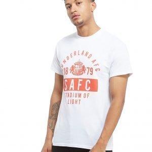 Official Team Sunderland Afc Stand T-Shirt Valkoinen