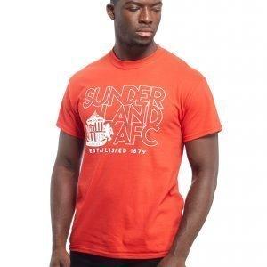 Official Team Sunderland Afc T-Shirt Punainen
