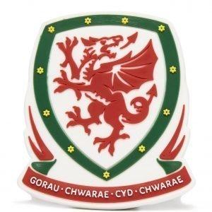 Official Team Wales 3d Crest Magnet Punainen