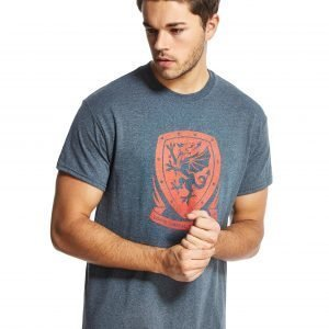 Official Team Wales Crest T-Shirt Dark Grey Heather