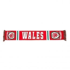 Official Team Wales Jacquard Scarf Punainen